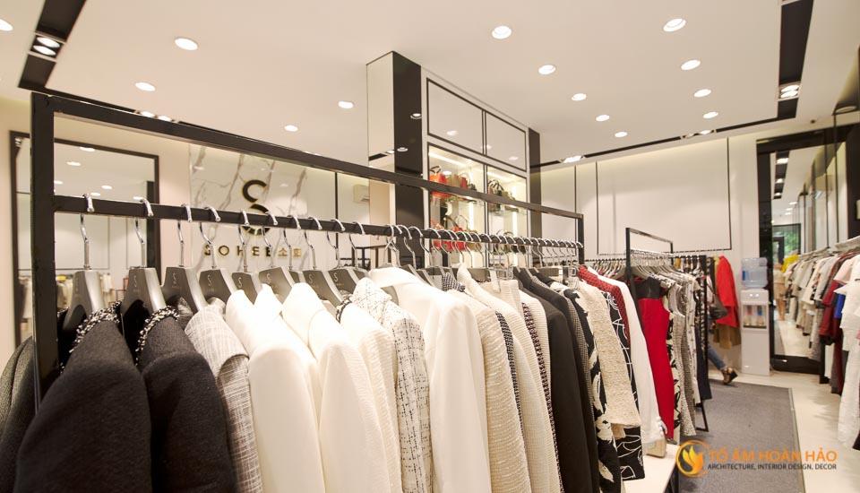 thiết kế thi công nội thất showroom thời trang sohee Nguyễn Văn Huyên 12