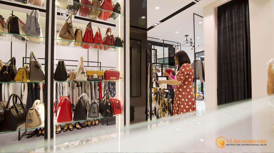 thiết kế thi công nội thất showroom thời trang Sohee Nguyễn Văn Huyên 15