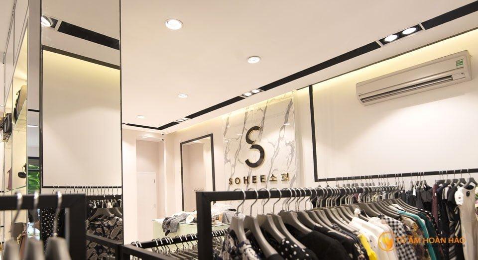 thiết kế thi công nội thất showroom thời trang sohee Nguyễn Văn Huyên 2