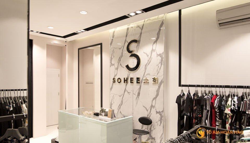 thiết kế thi công nội thất showroom thời trang sohee Nguyễn Văn Huyên 3
