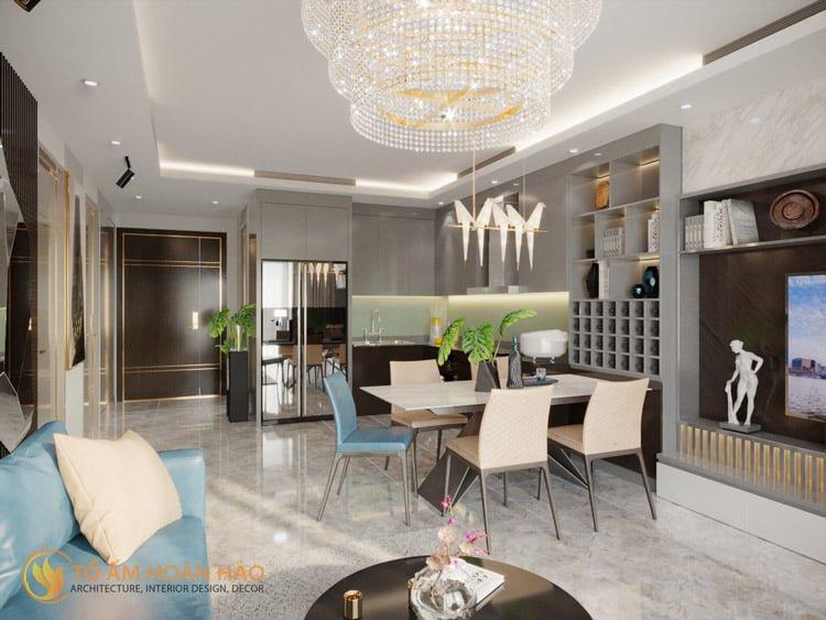 Thiết kế thi công nội thất chung cư Sun Grand City 1