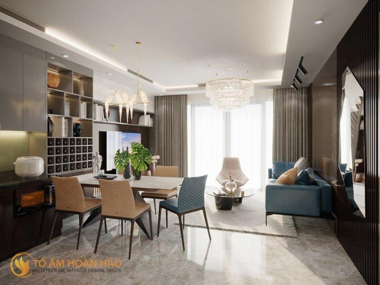 Thiết kế thi công nội thất chung cư Sun Grand City 4