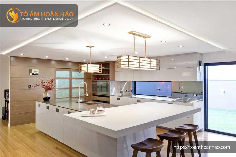 thiết kế nội thất phòng bếp phong cách nhật bản